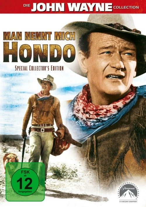 Hondo  https://openload.co/embed/MH5dxF90lfk/Hondo_%281953%29.mp4 Army despatch rider Hondo Lane discovers a woman and her son living in the midst of warring Apaches, and he becomes their protector.