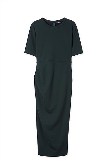 Tuck Column Dress