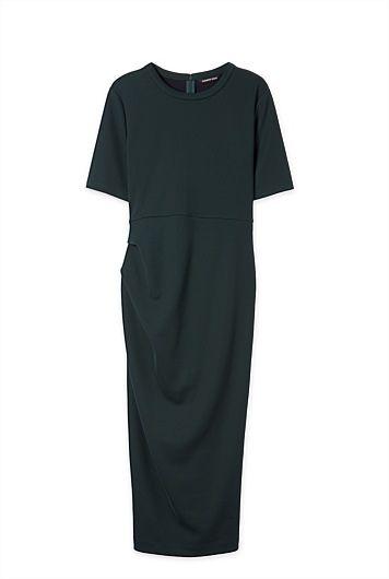 Tuck Column Dress
