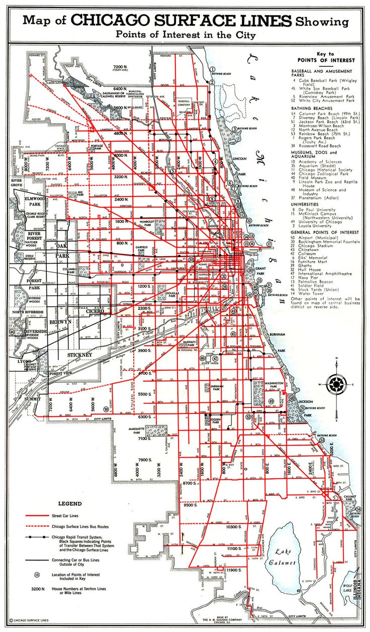 Map Showing The Surface Lines Of Chicagos Public Transport Grid - Chicago map northwest suburbs