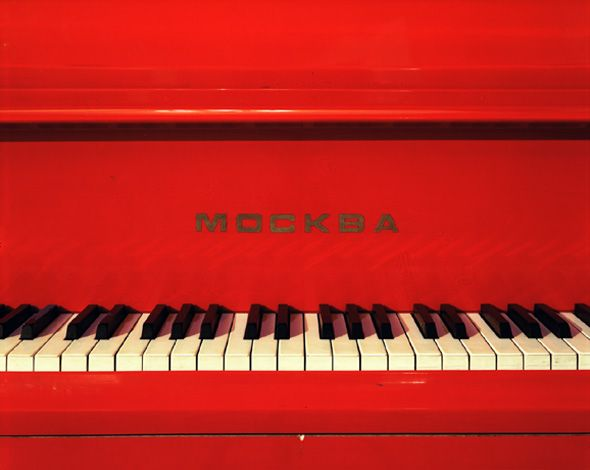 Red Piano - I had an old Red Piano in our early yrs. of marriage; still is one of my favorites from the past!