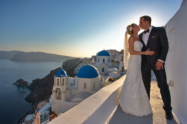 Santorini Wedding #couple #wedding #romance