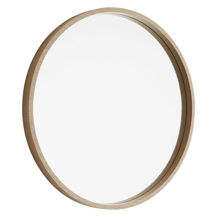 ARIANO Maple wood round wall mirror D63cm