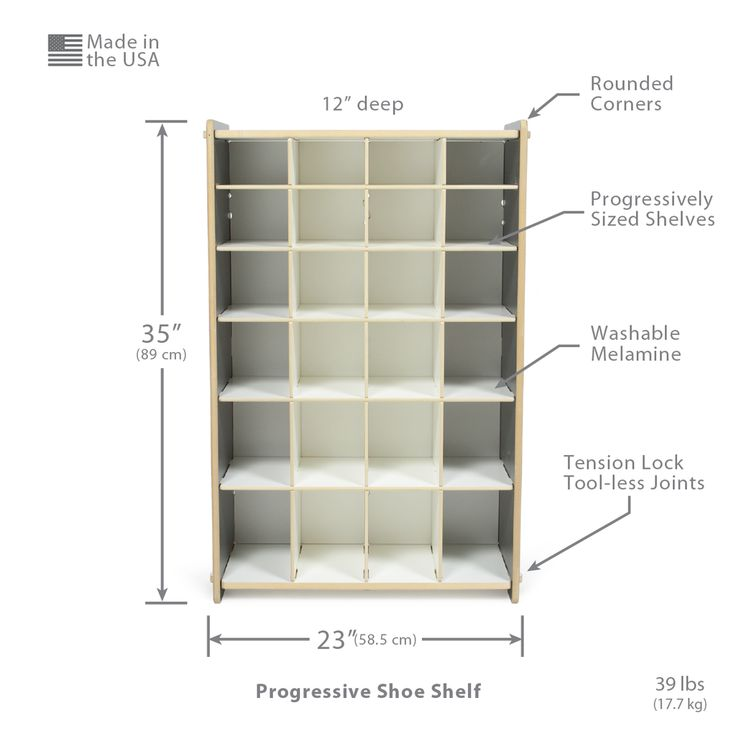 Progressive Shoe Cubby Storage Dimensions and Features