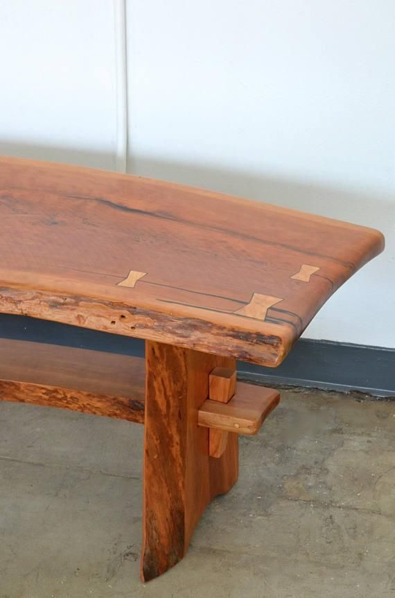 Live Edge Cherry Coffee Table Bench Coffee Table Bench Wood