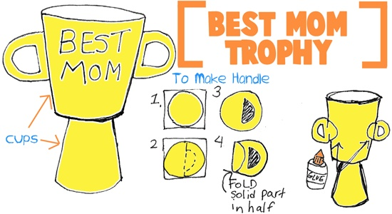 Best Mom Trophy and LOTS of Other Mother's Day Kid's Crafts