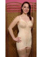 Beige corselet by Berdita Lingerie (30003).  Also available in Black or White. 34B-F to 52B-F. Can be with or without zip. Pantie corselet also stocked