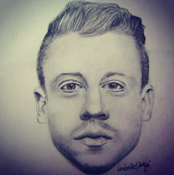 My portrait drawing of Macklemore!