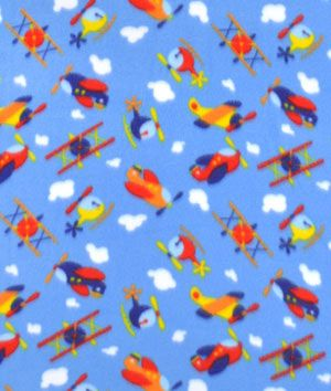 Fleece fabric products and sky on pinterest for Airplane fabric by the yard