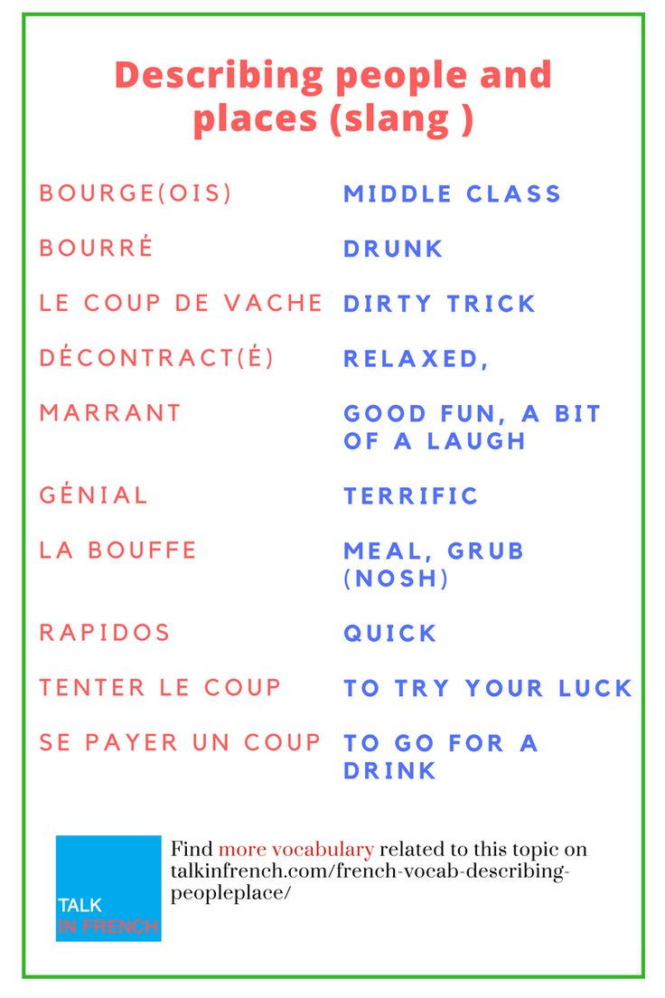 i know how to speak french in french