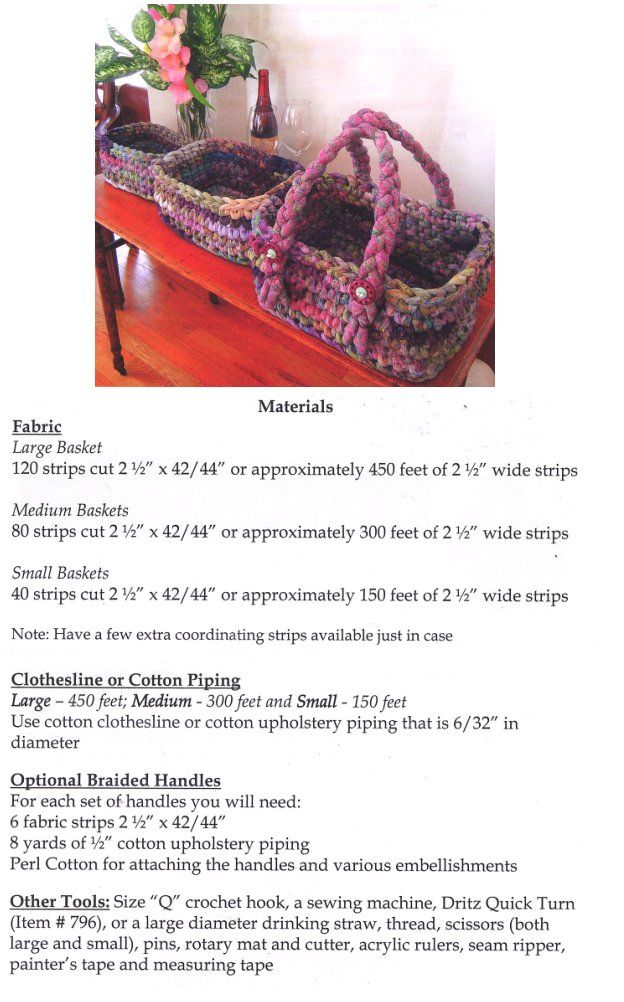 Crocheted Fabric Strips and Clothesline