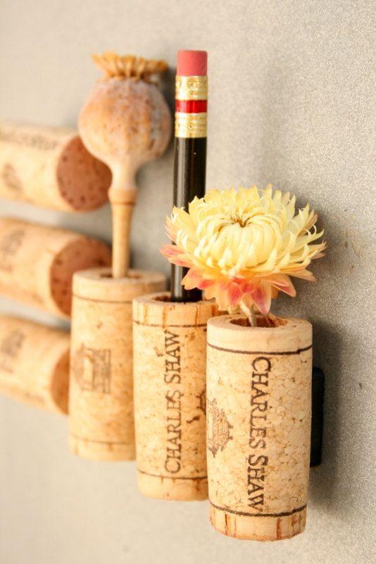 Wine cork magnets DIY