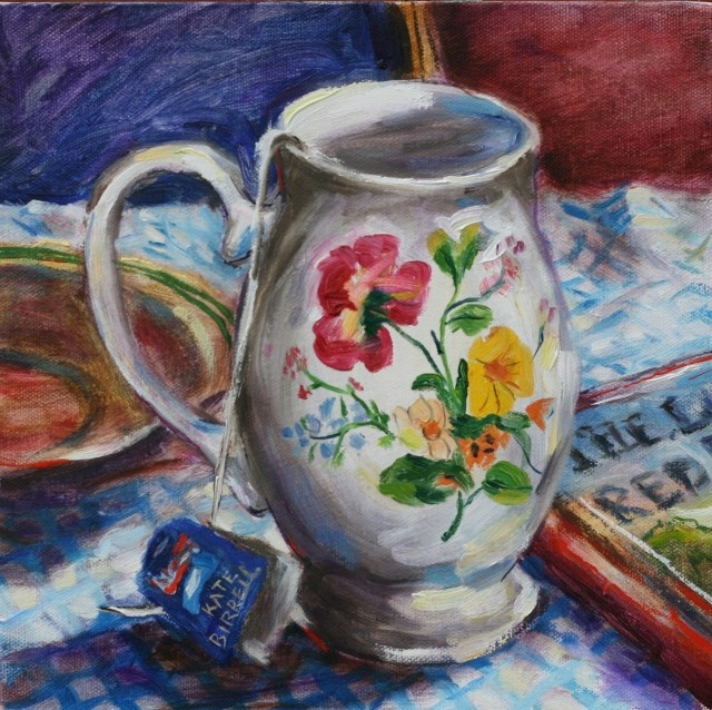 Title: Floral Cup    I love the detail on the cup as the flowers are gorgeous and are painted in such bright, vibrant colours which are full of life. The backdrop is simple and doesn't take away from the focal point (the cup) which I love about this image.