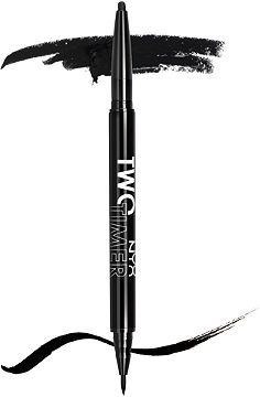 Nyx Cosmetics Two Timer Dual Ended Eyeliner Jet Black Ulta.com - Cosmetics, Fragrance, Salon and Beauty Gifts