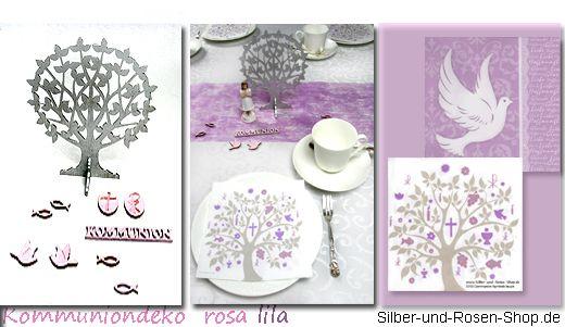 Christliche Deko rosa lila
