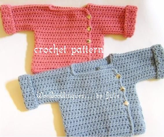 ganchillo a bebés descarga digital patrón de suéter de recreo de 12 meses