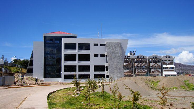 Escuela de Post-Grado de la Universidad Nacional del Altiplano, nueva infraestructura. Foto: Enero 2014