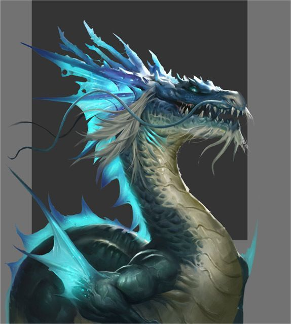 Azure ice dragon