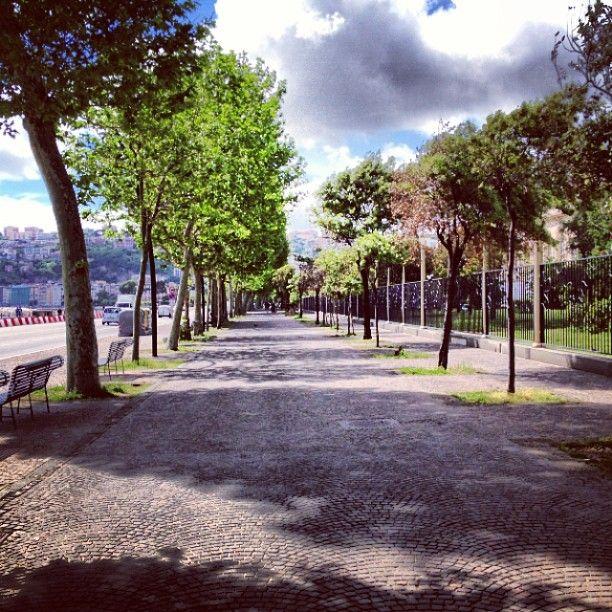 « La Villa Reale […] è situata, relativamente alla Riviera di Chiaia, come il giardino delle Tuileries rispetto alla strada di Rivoli. Soltanto, invece della Senna è il Mediterraneo: invece del quai d'Orsay è l'estensione, è lo spazio, è l'infinito. La Villa Reale è senza dubbio la più bella e soprattutto la più aristocratica passeggiata del mondo. » (Alexandre Dumas, Il Corricolo, 1841)
