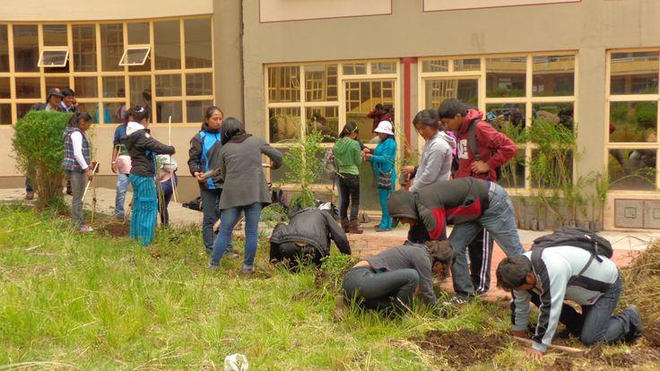 Facultad de Ingeniería Agrícola de la Universidad Nacional del Altiplano Puno. Foto: Abril 2014.