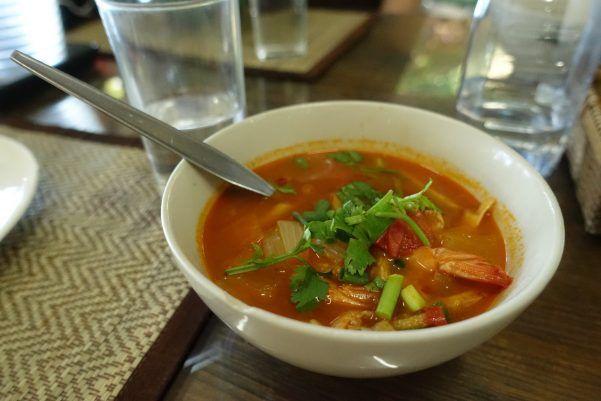Tom Yum Koong (Hot & Sour Prawn Soup)