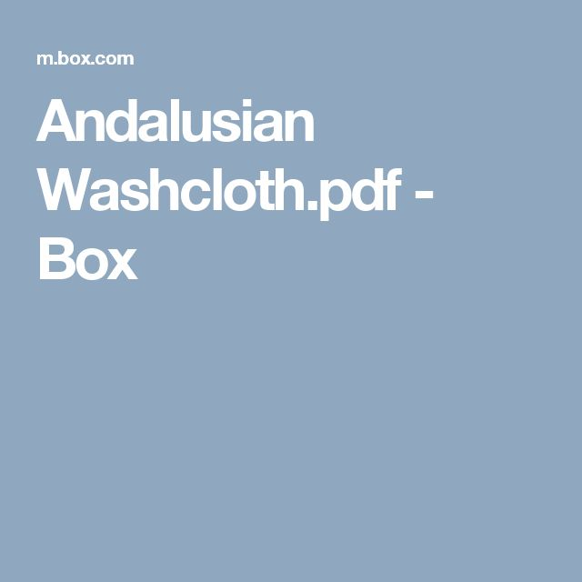 andalusian washclothpdf box boxenstrickrahmen musterarmstrickenfun - Strickrahmen Muster