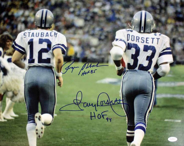Dinamic Duo Cowboys Dallas Roger Staubach Tony Dorsett