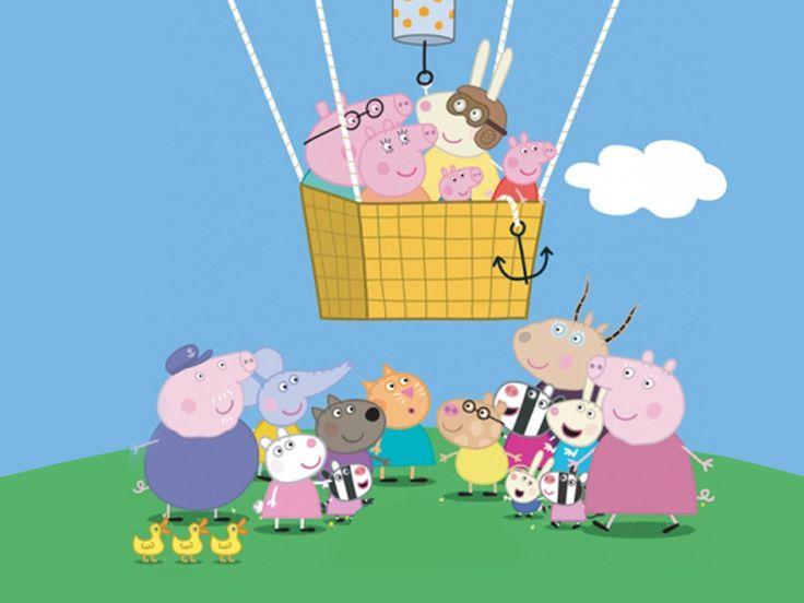 Peppa Pig Cartoon Wallpaper Peppa pig balloons, Peppa