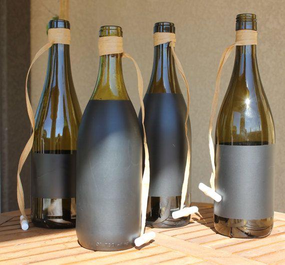 Chalkboard Wine Bottle with Chalk