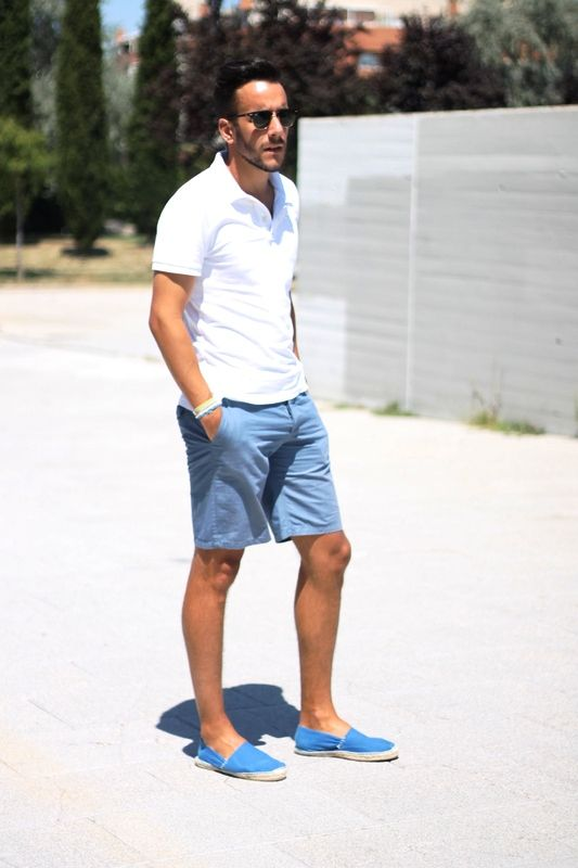 White Polo Shirt Outfit Men