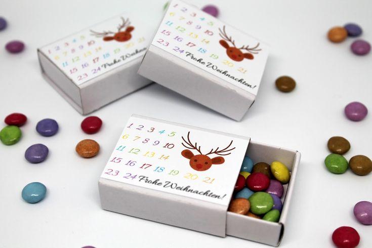 Tolles Geschenk: DIY Adventskalender in einer Streichholzschachtel {mit gratis Printable}