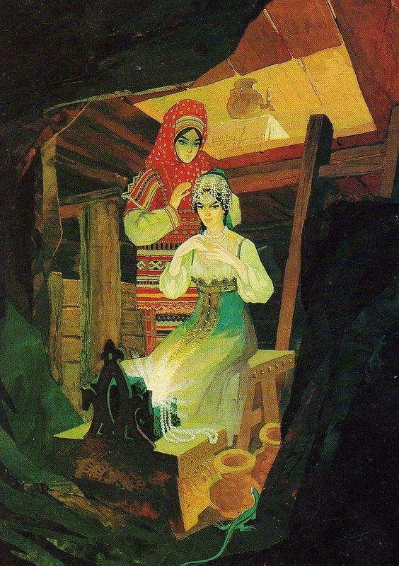 Сказы П.П. Бажова в иллюстрациях Назарука —
