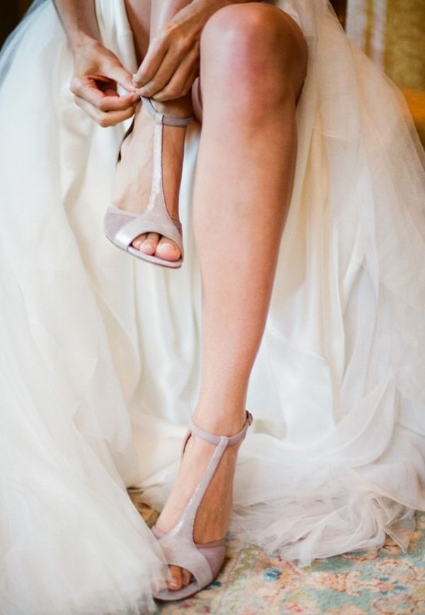 Bridal Style: Neutral Colored High Heels are a Perfect Fit ...