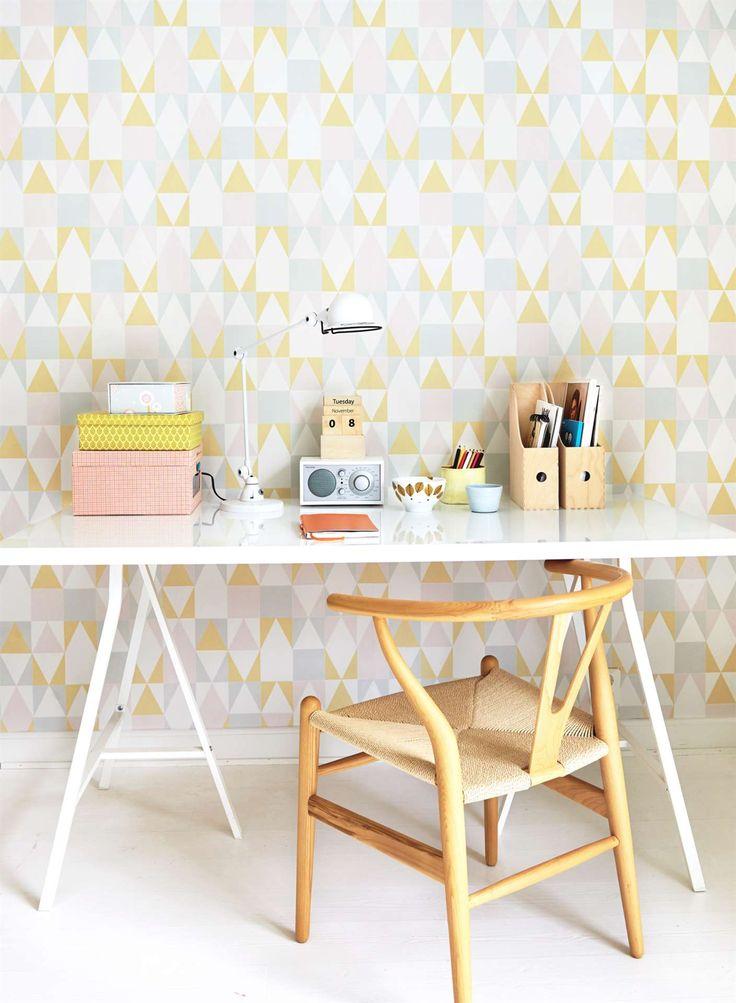 Majvillan, Tapet, Alice, rosa/gul/grå Tapeter Tapeter & väggdekorationer Barnrum på nätet hos Lekmer.se