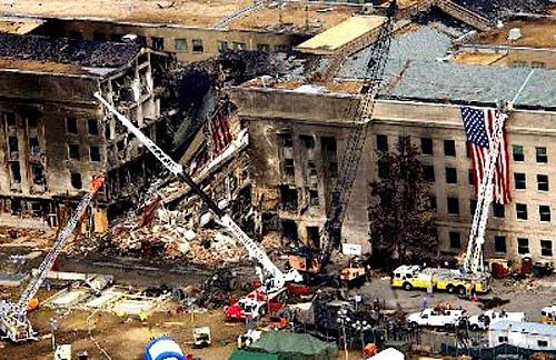 Pentagon after the 9/11 attack