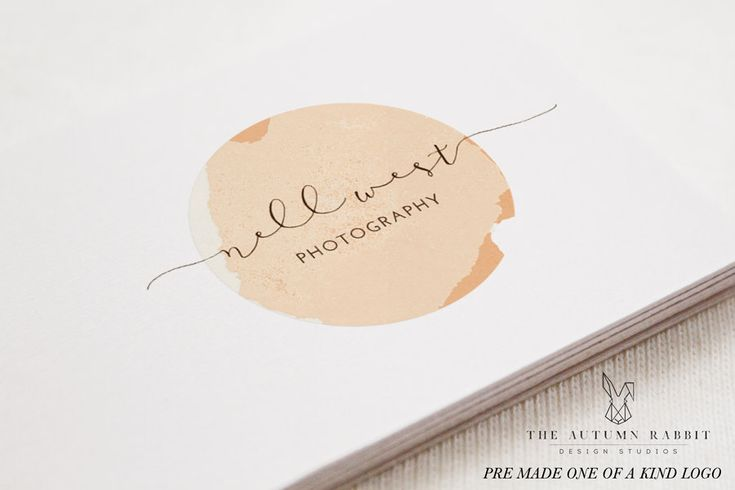 Premade Photography Logo and Watermark Design - One of a Kind - Watercolor Circle Logo - Business Branding by TheAutumnRabbit on Etsy https://www.etsy.com/listing/228601065/premade-photography-logo-and-watermark