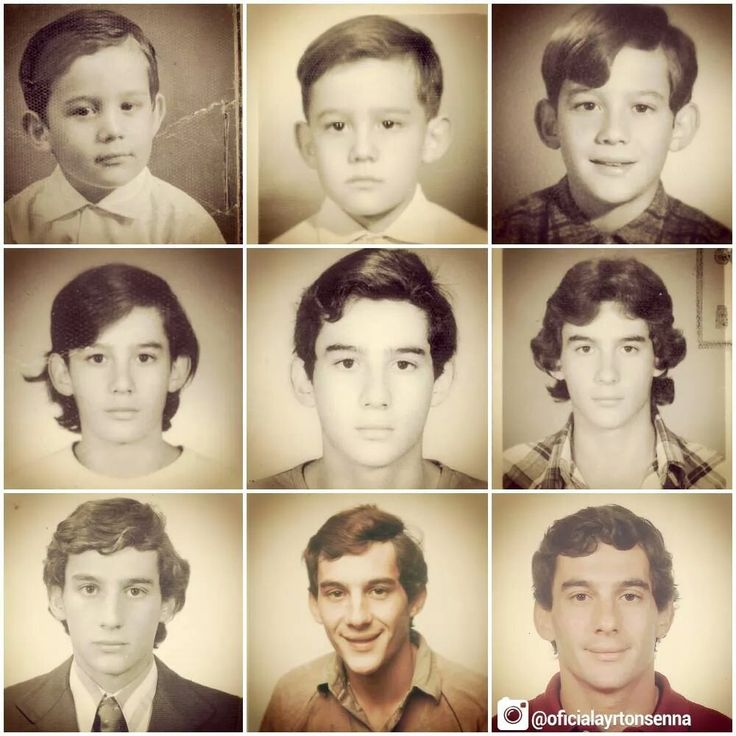 Ayrton Senna - 9 Photos - From a little boy to a man.