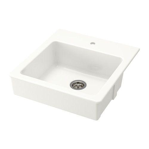 IKEA - DOMSJÖ, Single bowl top mount sink, 25-year Limited Warranty. Read about the terms in the Limited Warranty brochure.