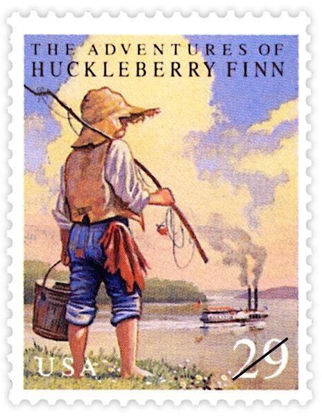 USPS Huckleberry Finn Commemorative Stamps - 1993 © USPS. All Rights Reserved.