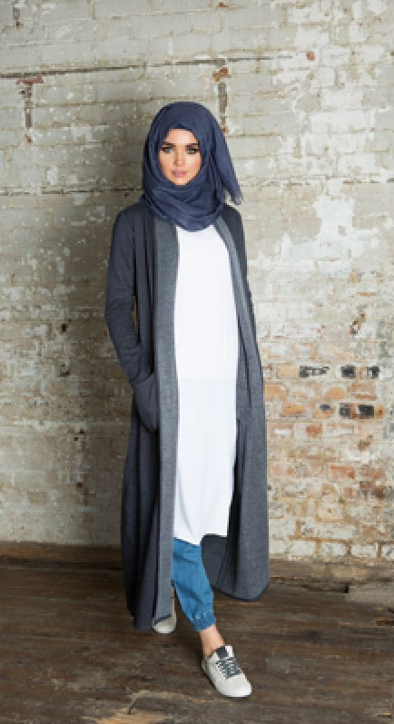 3 modern and stylish kimono outfits with hijab for women (3)