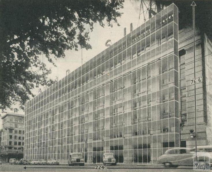 Herald-Sun Building, Flinders Street, Melbourne, 1957