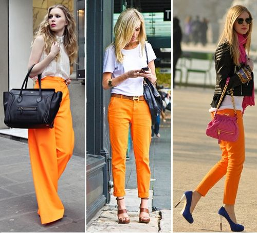 These are so perfect.Google Image, Colors Pants, Beautiful Inspiration, Colours Pants, Fall Colors, Orange Pants, Petite Fashionista, Street Style, Outfitters Style
