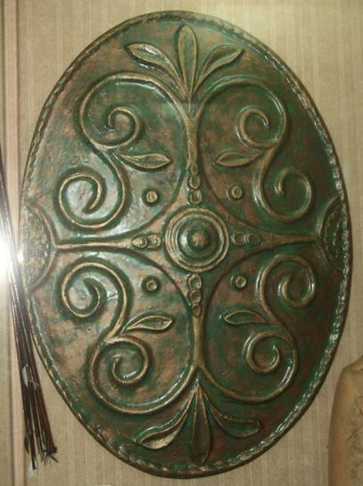 Modern reconstruction of a Dacian shield