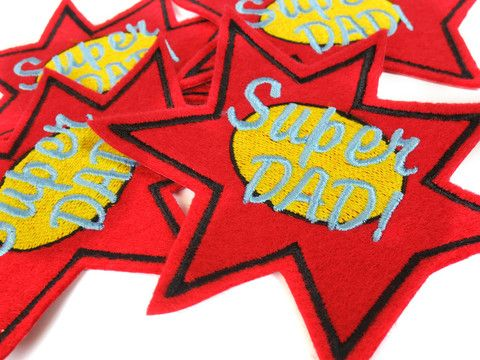 Super Dad iron-on patches!  A Make Vancouver original product.