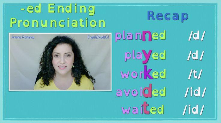 Πώς προφέρεται η κατάληξη -ed των ομαλών ρημάτων στα Αγγλικά; Βρείτε την απάντηση στο καινούργιο μου βίντεο. Έρχεται σύντομα! :) How to pronounce the -ed ending of regular verbs. New YouTube video coming soon! :)