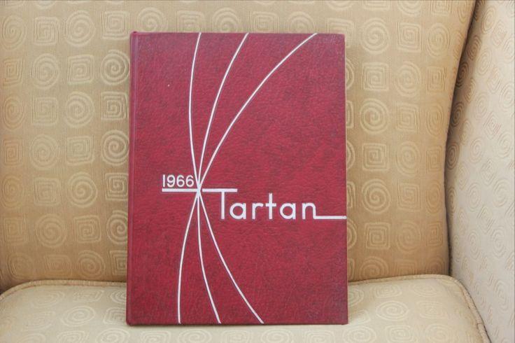 "Clifford J. Scott High School Yearbook Class of 1966 ""Tartan"" East Orange NJ"