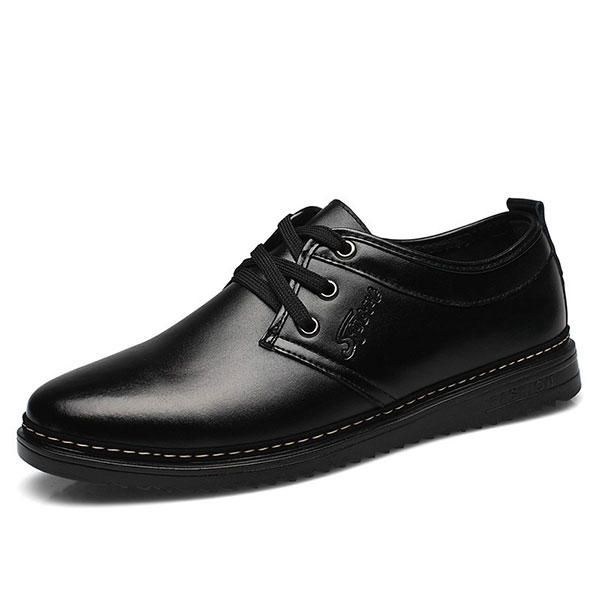 Men Lace Up Casual Business Leather Oxfords Shoes - US$25.85