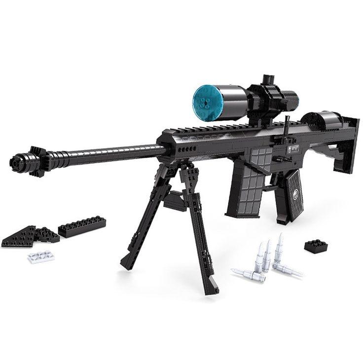 527 PCS DIY Nerfs Elite Gun M107 Sniper Rifle Gun Toy Gun Model Building Block Set Plastic Toy Gift For Children #Affiliate