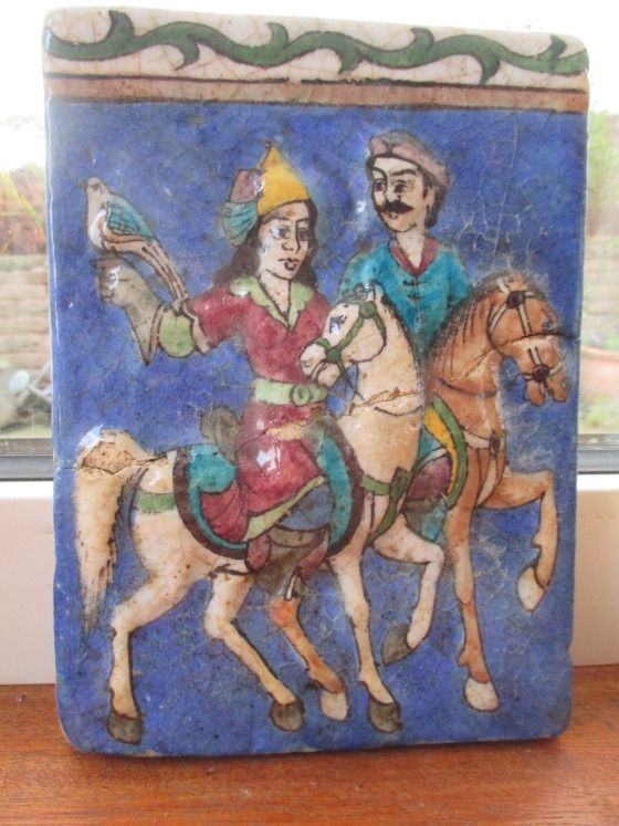 Qajar Pottery tile 19th Century in our collection IMG_2425