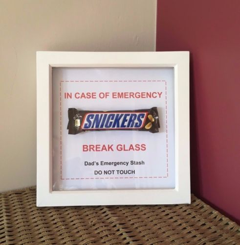 FATHER-039-S-DAY-Gift-NOVELTY-DAD-039-S-EMERGENCY-CHOCOLATE-FRAME-FATHER-039-S-DAY-X